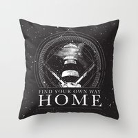 Find Your Own Way Home Throw Pillow