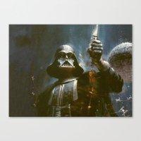 Darth Vader Vintage Canvas Print
