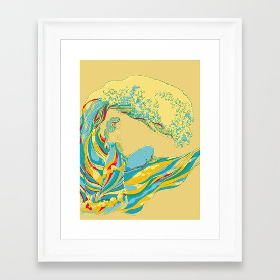 I See My Mother Framed Art Print