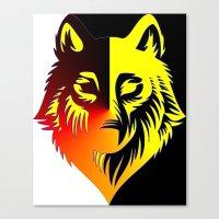 The Solar Wolf Canvas Print