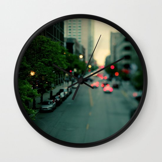 Neon Summer Wall Clock