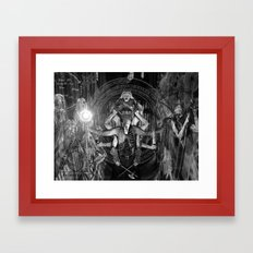The Necromancer 2: Black & White Framed Art Print