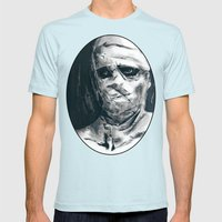 Don't Trust The Old Mens Fitted Tee Light Blue SMALL