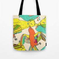 CATS AND BIRDS Tote Bag