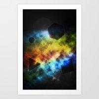 Geo-galaxy Art Print