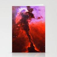 Red Nebula Stationery Cards