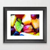 Study of Fresh Fruit Framed Art Print