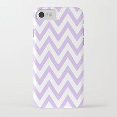 Lavender & White Chevron iPhone 7 Slim Case