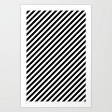 Classic Stripes Black + White Art Print