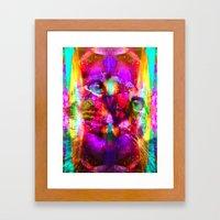 Crystal Cat - Sir Parker Framed Art Print