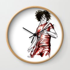 Jack White Red Watercolor Wall Clock