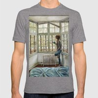 Front Window Mens Fitted Tee Tri-Grey SMALL