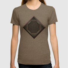 Ivy Garden Womens Fitted Tee Tri-Coffee SMALL