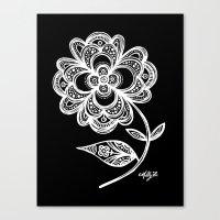 White Flower 105 Canvas Print