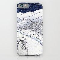 iPhone & iPod Case featuring Snowy Night in Japan by Mariya Olshevska