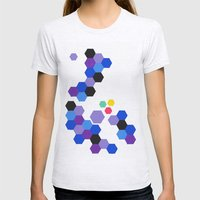 It's a Trap - A Study in Hexagons Womens Fitted Tee Ash Grey SMALL