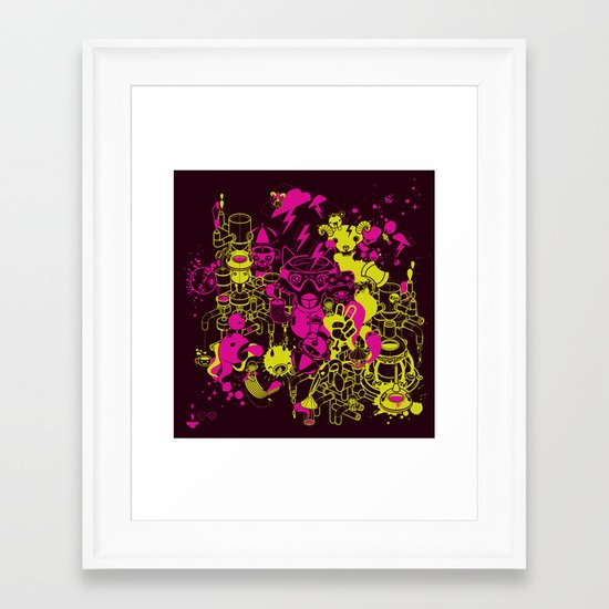 Dream Factory Pink and Yellow Framed Art Print