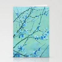 blue may Stationery Cards