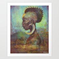 Africa Son Art Print