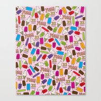Ice Cream Doodles Canvas Print