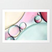 Aqua Fresh Bubble Abstra… Art Print