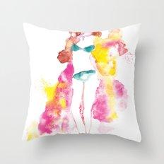 Rainbow Fashion Throw Pillow