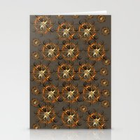 Mechanical Brown Forest Stationery Cards