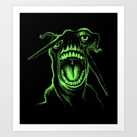 Alien Scream Art Print