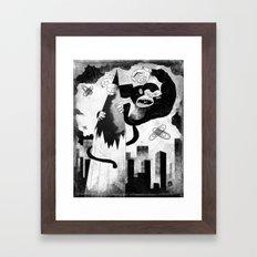 King Kong Sized Writer's Block Framed Art Print