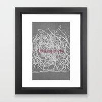 Concrete & Letters II Framed Art Print