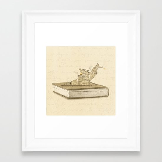 Origami Dragon Framed Art Print