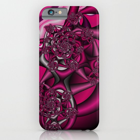 Pink fractal iPhone & iPod Case