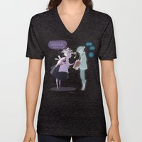 The Witch And The Ghost Unisex V-Neck