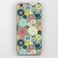 oriental blooms iPhone & iPod Skin
