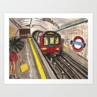 Down in a Tube Station at Midnight Art Print