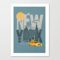 New York! New York! Canvas Print