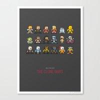 Mega Star Wars: The Clon… Canvas Print