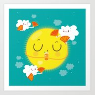 Art Print featuring Sunny Morning With A Bit… by Maria Jose Da Luz