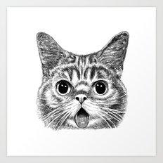 Tongue Out Cat Art Print
