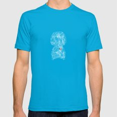 A Boy - Never Leave Mens Fitted Tee Teal SMALL