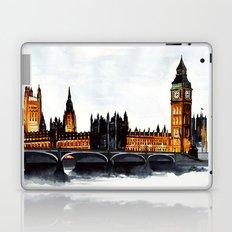 London, Big Ben, parliament, Watercolour Laptop & iPad Skin