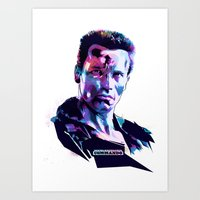 Arnold Schwarzenegger: BAD ACTORS Art Print