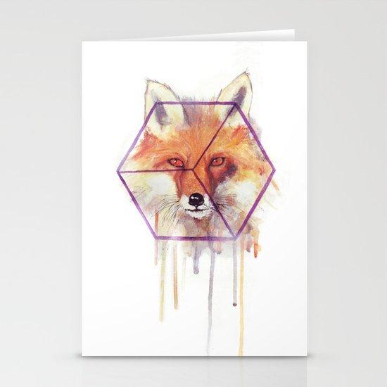 Bonjour Fox!! Stationery Card