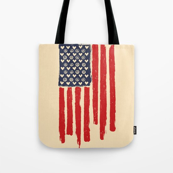 Red and Blue and White Tote Bag