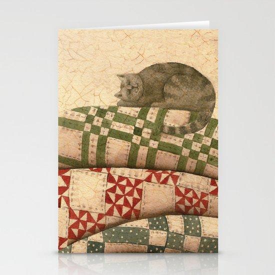 Cat Nap Stationery Card