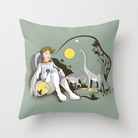 The Time Traveler Throw Pillow