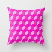 Geometric Series (Pink) Throw Pillow