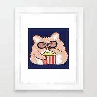 Cinema lovers Framed Art Print
