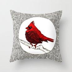 A Red Cardinal Throw Pillow