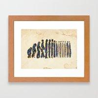 Barcode Evolution Framed Art Print